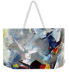 Weekender Tote Bag featuring the painting Blue by John Jr Gholson