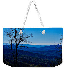 Weekender Tote Bag featuring the photograph Blue by Kristi Swift