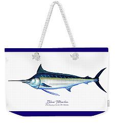 Blue Marlin Weekender Tote Bag