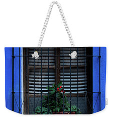 Weekender Tote Bag featuring the photograph Blue-ming Beauty by Melissa Lane