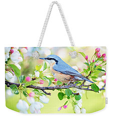 Blue Orange Bird Weekender Tote Bag