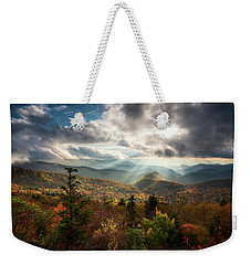 Blue Ridge Mountains Asheville Nc Scenic Autumn Landscape Photography Weekender Tote Bag
