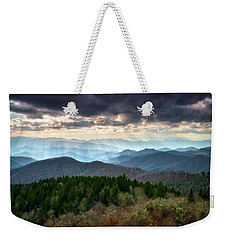 Blue Ridge Mountains Asheville Nc Scenic Light Rays Landscape Photography Weekender Tote Bag