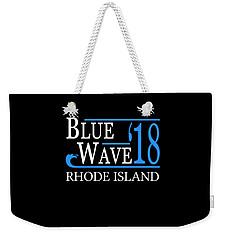 Blue Wave Rhode Island Vote Democrat 2018 Weekender Tote Bag