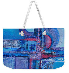 Blues With Purple Abstract Weekender Tote Bag