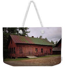 Weekender Tote Bag featuring the digital art Boat Shop by Christopher Meade