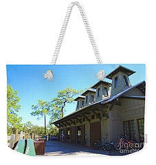Boathouse In Watercolor Weekender Tote Bag