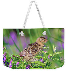 Weekender Tote Bag featuring the photograph Bobolink by Debbie Stahre