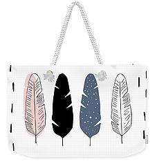 Boho Feathers - Boho Chic Ethnic Nursery Art Poster Print Weekender Tote Bag