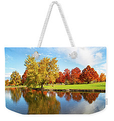Weekender Tote Bag featuring the photograph Boise Fall Foliage by Dart and Suze Humeston