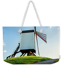 Weekender Tote Bag featuring the photograph Bonne Chiere Windmill Bruges Belgium by Nathan Bush