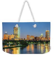 Boston Night Skyline II Weekender Tote Bag