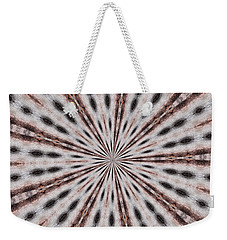 Weekender Tote Bag featuring the photograph Boston Terrier Mandala by Debbie Stahre
