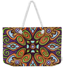 Botanical Mandala 11 Weekender Tote Bag