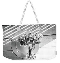 Bouquet And Plate-bw Weekender Tote Bag