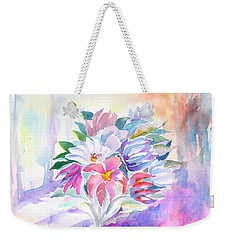 Weekender Tote Bag featuring the painting Bouquet By The Window by Dobrotsvet Art