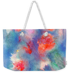 Weekender Tote Bag featuring the painting Bouquet Of Roses by Dobrotsvet Art