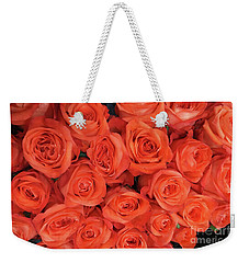 Bouquet Of The  Living Coral Roses Weekender Tote Bag