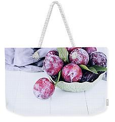 Bowl Of Fresh Plums Weekender Tote Bag