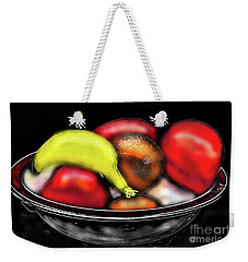 Weekender Tote Bag featuring the digital art Bowl Of Fruit by James Fannin