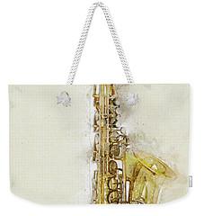Brass Saxophone Weekender Tote Bag