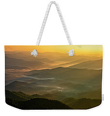 Weekender Tote Bag featuring the photograph Brasstown Bald Mists by Andy Crawford