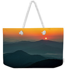 Weekender Tote Bag featuring the photograph Brasstown Bald Sunrise by Andy Crawford