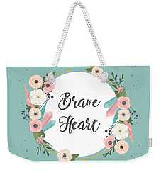 Brave Heart - Boho Chic Ethnic Nursery Art Poster Print Weekender Tote Bag