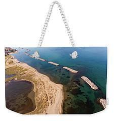 Weekender Tote Bag featuring the photograph Breakwater by Okan YILMAZ