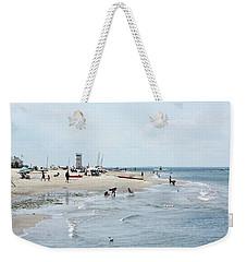 Breezy Point Lighthouse Summer Days Weekender Tote Bag