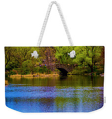 Weekender Tote Bag featuring the photograph Bridge In Central Park by Stuart Manning
