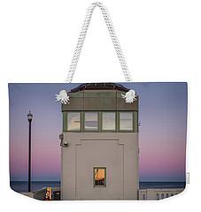 Weekender Tote Bag featuring the photograph Bridge Tender's Tower by Steve Stanger