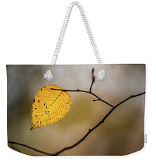 Weekender Tote Bag featuring the photograph Bright Fall Leaf 10 by Michael Arend