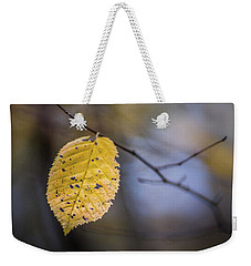 Weekender Tote Bag featuring the photograph Bright Fall Leaf 3 by Michael Arend