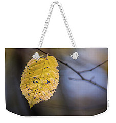 Weekender Tote Bag featuring the photograph Bright Fall Leaf 5 by Michael Arend