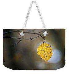 Weekender Tote Bag featuring the photograph Bright Fall Leaf 6 by Michael Arend
