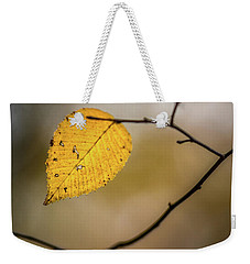 Weekender Tote Bag featuring the photograph Bright Fall Leaf 8 by Michael Arend