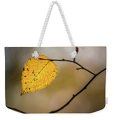 Weekender Tote Bag featuring the photograph Bright Fall Leaf 9 by Michael Arend