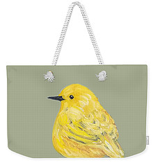 Weekender Tote Bag featuring the painting Bright Spot #2 by Maria Langgle