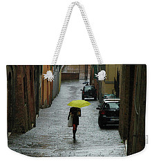 Weekender Tote Bag featuring the photograph Bright Spot In The Rain by Mark Duehmig