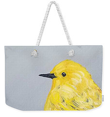 Weekender Tote Bag featuring the painting Bright Spot by Maria Langgle