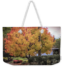 Brilliant Fall Color Tree Yellows Oranges Seasons  Weekender Tote Bag