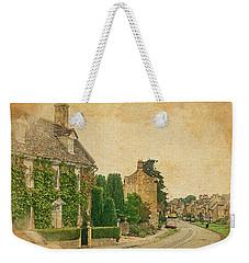 Weekender Tote Bag featuring the digital art Broadway Street View by Joe Winkler