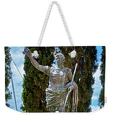 Weekender Tote Bag featuring the photograph Bronze Copy Of Augustus Of Prima Porta Sculpture In Spain by Eduardo Jose Accorinti