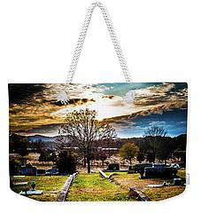 Brooding Sky Over Cemetery Weekender Tote Bag