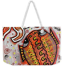 Brother Fish And Sister Starfish In Deep Conversation Weekender Tote Bag