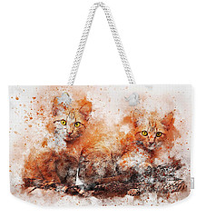 Brothers Cat Weekender Tote Bag