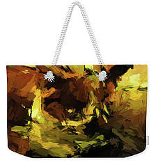 Brown Cat On The Cushion Weekender Tote Bag