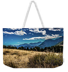 Brown Grass And Mountains Weekender Tote Bag