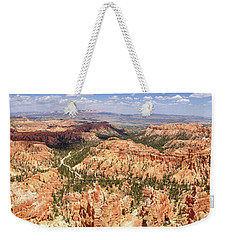 Weekender Tote Bag featuring the photograph Bryce Canyon Hoodoos by Mark Duehmig